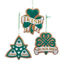 Kurt Adler Irish Symbol Ornament #A1839