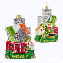 Kurt Adler Glass Ireland Ornament #C7573