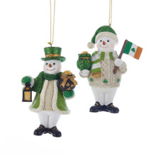 Kurt Adler Irish Snowman Ornament #C7675
