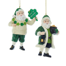 Kurt Adler Irish Santa Ornament #C7676