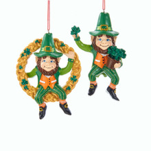 Kurt Adler Irish Hanging Gnome Ornament #J8495