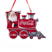 Kurt Adler Santa Coke Train Ornament #CC2183