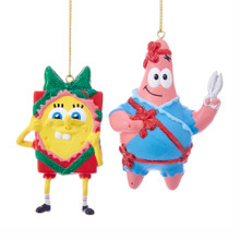 Kurt Adler Spongebob and Patrick Ornament #SB1181