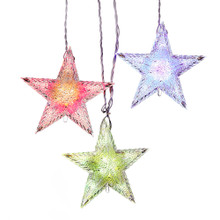 Kurt Adler Color Change Star Curtain Light Set #UL1723