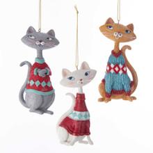 Kurt Adler Mid Century Style Cat Ornament #C7665