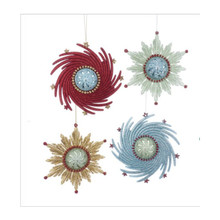 Kurt Adler Mid Century Atomic Snowflakes Ornament #T2442