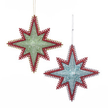 Kurt Adler Mid Century Starburst Star Ornament #T2443
