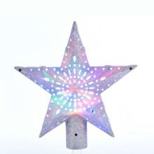 Kurt Adler LED Rotating Multi Colored Star Treetop #JEL0311