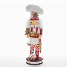 Kurt Adler Hollywood Gingerbread Chef Nutcracker #HA0325