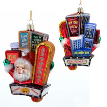 Kurt Adler NYC Broadway Santa Ornament #C7500