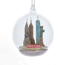 Kurt Adler NYC Landmarks Glass Dome Ornament #C8948NY