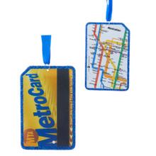 Kurt Adler MTA Metrocard Ornament #MTA2182