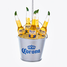 Kurt Adler Corona Bottles in Ice Bucket Ornament #CE2171
