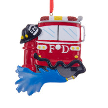 Kurt Adler Fire Truck Ornament #W8396