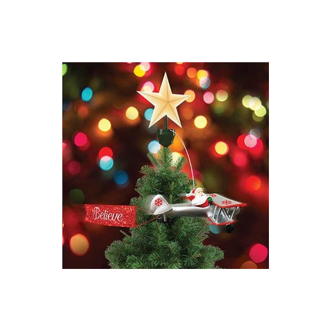 Mr. Christmas Santa's Airplane Animated Tree Topper - House of Holiday
