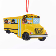 Kurt Adler School Bus Ornament #W8401