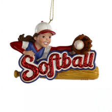 Kurt Adler Softball Ornament #C8236