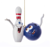 Kurt Adler Bowling Ball & Pin Ornament #J8481