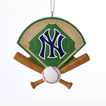 Kurt Adler NY Yankees Baseball Field Ornament #MB2171YNK