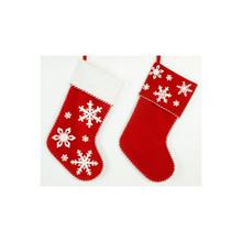Red Velvet Snowflake Stocking #27256190002