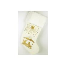 Gold & Ivory Nativity Scene Stocking #28806190000