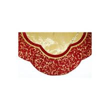 Burgundy & Gold Swirl Tree Skirt #38294560000