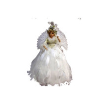24in Animated & Musical Angel in White Dress #46053240000