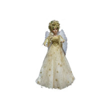 32in Animated & Musical Angel in Gold Glitter Star Dress #46090320000