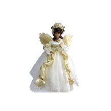 20in Angel with White Dress & Gold Wings #46099200000