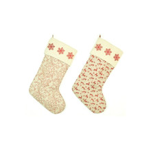 Red & Ivory Christmas Printed Stocking #50226200002