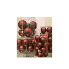 Solid Glass Ball Ornament in Burgundy Matte, 6-Pack #60900700000
