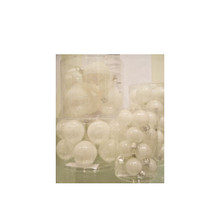 Solid Glass Ball Ornament in Glitter Snowball, 6-Pack #60947700000