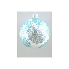 Blue & Silver Snowflake Glass Ball Ornament, 4-Pack #65687670000
