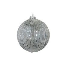 Silver Textured Glass Ball Ornament, 4-Pack #66021670000