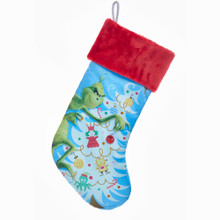 Kurt Adler Grinch & Tree Stocking #GRH7183