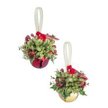 Kissing Krystal Cardinal Sleigh Bell Ornament #KK458