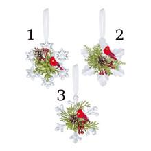 Kissing Krystal Cardinal Snowflake Ornament #KK480