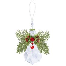 Kissing Krystal Floral Krystal Angel Ornament #KK428