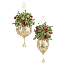 Kissing Krystal Hurricane Glass Ornament #KK460