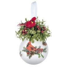 Kissing Krystal Glass Cardinal Ornament #KK461