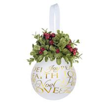 Kissing Krystal Glass Holiday Sentiments Ornament #KK462