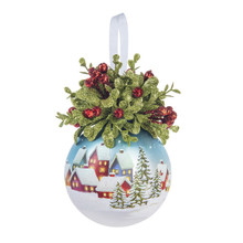 Kissing Krystal Glass Christmas Town Ornament #KK463