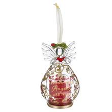 Kissing Krystal Cardinal Angel Ornament #KKLL22