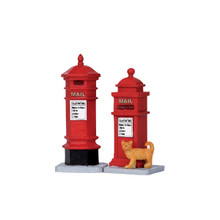 Lemax Village Collection Victorian Mailboxes, Set of 2 #14362