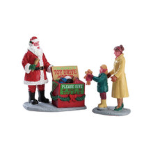 Lemax Village Collection A Season of Giving, Set of 2 #52347