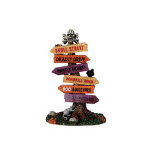 Lemax Village Collection Scary Road Signs #64054