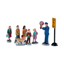 Lemax Village Collection The Crossing Guard, Set of 8 #92753