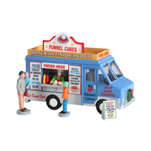 Lemax Village Collection Funnel Cakes Food Truck, Set of 4 #93420