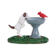 Lemax Village Collection Bird Bath Dog Fountain #94535