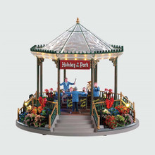 Lemax Village Collection Holiday Garden Green Bandstand #94551